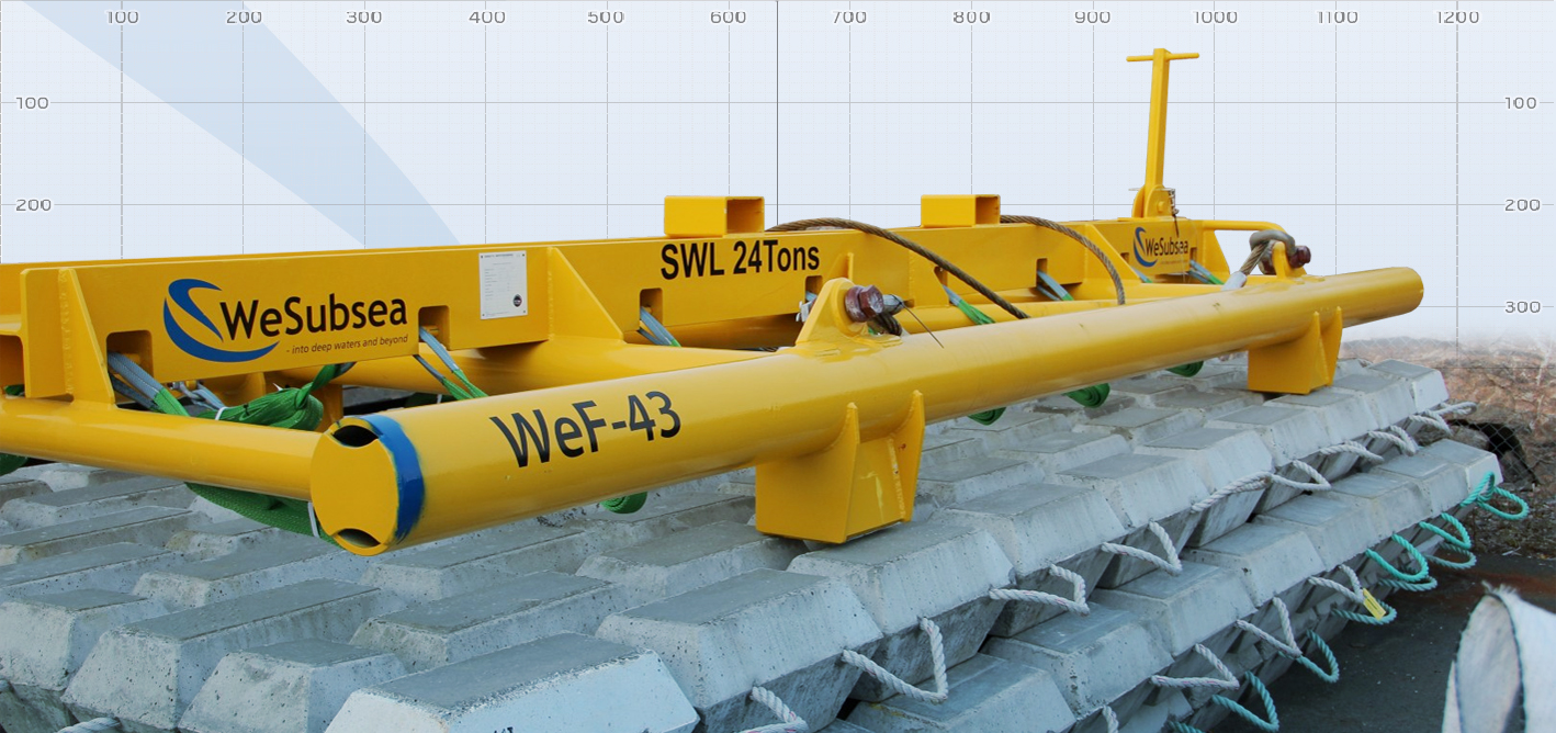 Lifting Frames for Concrete Mattresses - WeSubsea